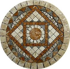 Tumbled Travertine Floor or Wall Art Medallion Mosaic By: Stone Deals Stone Deals http://www.amazon.com/dp/B01523S9M0/ref=cm_sw_r_pi_dp_zsF7vb0871ZA5