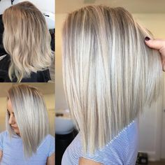 Likes, 32 Kommentare - Hottes Hair D . Blonde Foils, Platinum Blonde Hair, Ash Blonde, Hair Color And Cut, Pinterest Hair, Hair 2018, Bad Hair, Great Hair, Hair Hacks