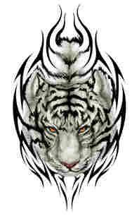 DeviantArt: More Like Tiger Tattoo Flash-Art Commission by megantoy