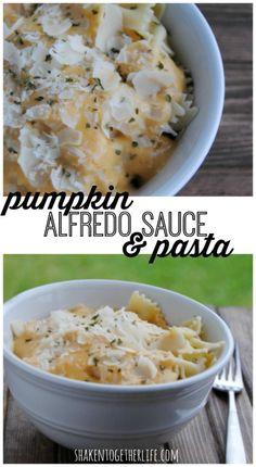 Easy Weeknight Meal: Pumpkin Alfredo Sauce & Pasta
