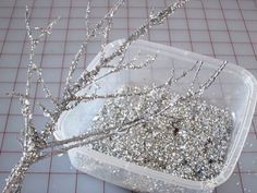 "How To Make ""Glitter Branches."""