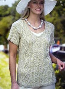 Cardigan King Cole 3075, a womens aran knitting pattern
