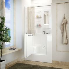 Mountain Home 31x40 Right Drain White Soaker Walk-in Bathtub - Overstock™ Shopping - The Best Prices on Walk-In Tubs