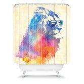 Found it at Wayfair - DENY Designs Robert Farkas Woven Polyester Sunny Leo Shower Curtain