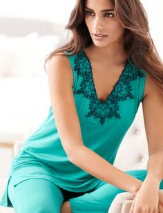 Colors inspired by nature: Our Oh My Gorgeous pajama set in rainforest. Soma | Pajamas