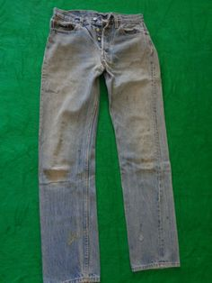 Vintage Levis 501's 32x34 holes and stains by vintagewayoflife