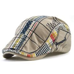 85f7650a160 Cotton Embroidery Breathable Thin Beret Caps Outdoor Casual Sunshade Warm  Fashion Hat is hot sale on Newchic.