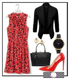 """""""RGG - Creating outfit options for my new client."""" by cherchezgigi on Polyvore featuring Valentino, Olivia Burton, Banana Republic and Witchery"""