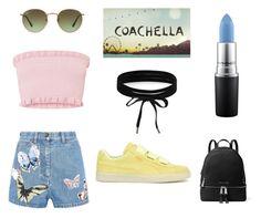 """Coachella"" by isabelvsacre on Polyvore featuring Puma, MICHAEL Michael Kors, MAC Cosmetics, Ray-Ban, Boohoo and Valentino"