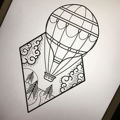 Little simple hot air balloon piece up for grabs