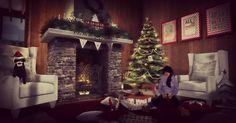 New Chez Moi cozy Christmas living room.   www.flickr.com/AlexisValentini