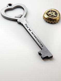 heart bottle opener, gift for him?