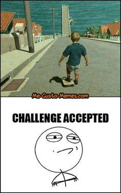 tiras de memes 5 challenge accepted