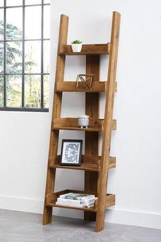 Buy Bronx Ladder Shelves from the Next UK online shop - Home Professional Decoration Wooden Ladder Shelf, Ladder Decor, Wooden Bathroom Shelves, Bookcase Shelves, Ladder Shelves, Shelving Units, Corner Ladder Shelf, Oak Shelves, Tv Units