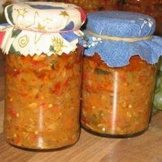 Zöldséges padlizsánkrém Recept képpel - Mindmegette.hu - Receptek - Befőzés Salsa, Dips, Jar, Vegetables, Automata, Food, Meal, Salsa Music, Sauces