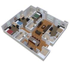 Gambar sketsa rumah mewah 4 kamar tidur