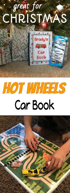 Are you looking for the perfect homemade gift to give the Hot Wheel loving child in your life for Christmas?  Try this interactive car book.  It is great for quiet time, car trips, play time and much more!