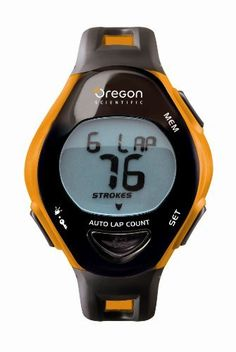 Oregon Scientific SW202 Swimming Watch, Black by Oregon Scientific. $36.72. Time your laps as you swim!This swimming watch keeps track of your time when performing laps in the pool. The Auto Lap and Stroke Counter features support each of the main swimming strokes; Freestyle, Backstroke, Breaststroke, and Butterfly. Workout memory function stores data from your last 7 exercise sessions. It will even measure your calories burned and features a clock with stopwatch and alarms.