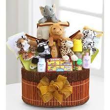 Noah's Ark newborn gift basket. El regalo ideal para el recién nacido y su mamá.