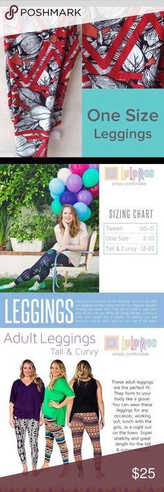 """Brand new Lularoe os leggings Having the nickname """"butter leggings"""" is just a sign that our leggings are the softest around. Our leggings are ultra stretchy and super soft. They are as close to your own skin as you can get while still being clothed. Coming in both solid colors and a variety of patterns you are bound to end up with a pair for each day of the week. LuLaRoe Pants Leggings"""