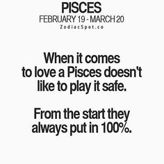 #Repost @everything_pisces with @repostapp ・・・ This is absolutely, 100%, true! ♓️ #pisces #astrology #astro #love #loveandromance #relationships #loveandrelationships #dontplaysafe #wegiveourall #allin #loveislife #getyouapisces #piscesarethebest #weliveforlove #realtalk #heartchakra #zodiacfacts #starsign #tbh #noifsbutsormaybes #thatshowitis #instalove #instadaily #followme #watersign #kingsandqueens #mylife #mylove