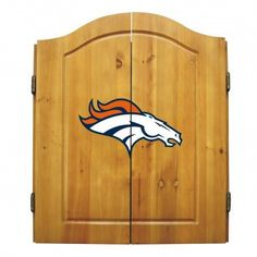 Dart Board Cabinet - Denver Broncos. Really love this dart board. Kids and their friends are always playing