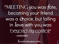 Meeting You Was Fate Quote