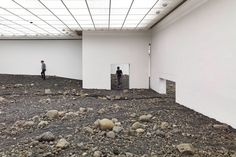 """""""Riverbed"""" by Olafur Eliasson, focuses on inhabiting space in a new way and inserts new patterns of movement into the museum."""