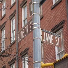 """""""But you ARE Blanche!""""  Yes, there really is a campy intersection of (Baby) Jane & Hudson in NY's Greenwich Village, of course!"""