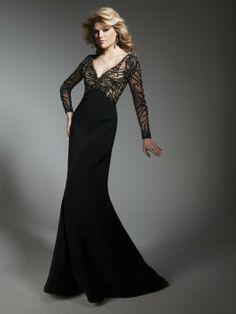 Half black half white evening dresses