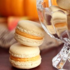Pumpkin Buttercream Macarons (French Macaroons) | Easy homemade vanilla macarons with smooth, creamy pumpkin buttercream. Simply irresistible!