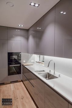 44 Fascinating Kitchen Glass Surfaces Design Ideas - Are you looking for a truly stunning finish to your top spec interior design project? Then look no further than bespoke glass surfaces. These decorati. Kitchen Cabinet Design, Kitchen Decor, Contemporary Kitchen, Kitchen Room Design, Kitchen Furniture Design, Kitchen Layout, Modern Kitchen Design, Kitchen Renovation, Kitchen Design
