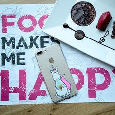 Food make me happy!!! La cover è disponibile per tutti i modelli di telefono 📱!!! Link in bio 👆👆👆#mycaseitaly #phonecase #cover#unicorns