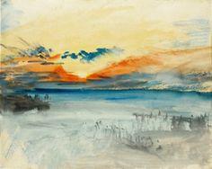 Sunset over Water, 1828 - Joseph Mallord William Turner - The Athenaeum