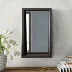 Polaris Large Framed Wall Mirror & Reviews | Joss & Main Set Of 4 Wall Mirrors, Black Wall Mirror, Mirror Set, Framed Wall, Frames On Wall, Construction Materials, Joss And Main, Decorative Pillows, Rustic