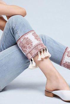 Jeans Refashion Idea #diyjeansrefashion