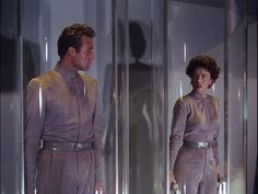 """This Island Earth (1955) Cal and Ruth undergo a """"conversion"""" process so they can survive in an atmosphere with a pressure akin to being far submerged under Earth's oceans. http://scififilmfiesta.blogspot.com.au/2014/12/this-island-earth-1955.html"""