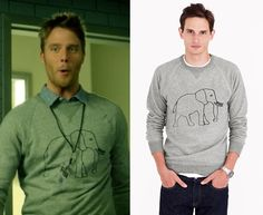 3a0647478bb5 Brian Finch (Jake McDorman) wears a J.Crew for David Sheldrick Wildlife  Trust Elephant Sweatshirt in the color Marled Graphite in Limitless Season  1 Episode ...