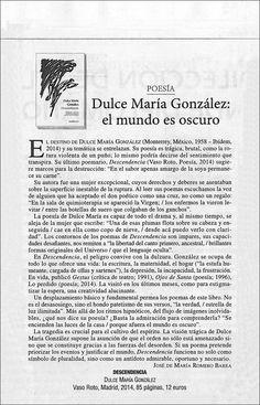 #recomiendo #poeta #mexicana #DulceMaríaGonzález #Descendencia @Vaso_Roto   #RomeroBarea #reseña #LeMonde @805ojinaga http://www.vasoroto.com/?lg=es&id=6&pid=419 …