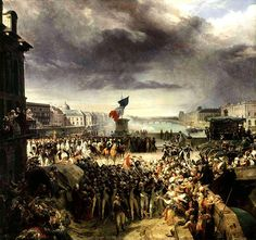 Léon Cogniet: La Garde nationale de Paris part pour l'armée, septembre 1792 (1836), Versailles, musée de l'Histoire de France.