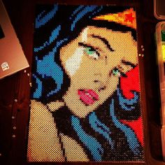 Wonder Woman - DC Comics perler pixel art by gundamzombie