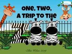 An updated version of Buckle My Shoe counting rhyme. This one takes preschoolers on a trip to the zoo. Extension activities suggested. Counting Rhymes, Flightless Bird, American Academy Of Pediatrics, Early Math, Adding And Subtracting, Math Concepts, Animated Cartoons, Age 3, Zoo Animals