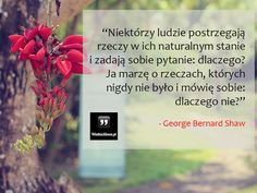 Niektórzy ludzie postrzegają rzeczy... #Shaw-George-Bernard,  #Człowiek, #Marzenia-i-pragnienia, #Życie