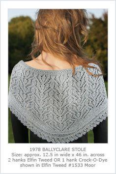 Knit One, Crochet Too - 1978 Ballyclare Stole-Digital