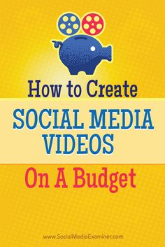 Do you want to add video to your social media content mix?  Creating a video doesn't have to cost you hundreds of thousands of dollars in high-end production tactics like live actors or 3-D renderings.  In this article you'll discover how to create and promote social media video on a budget. Via @smexaminer.