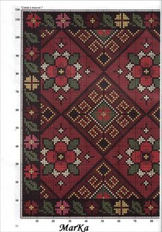 Ukrainian embroidery for vyshyvanka Cross Stitch Geometric, Cross Stitch Borders, Cross Stitch Flowers, Cross Stitch Charts, Cross Stitch Designs, Cross Stitching, Cross Stitch Embroidery, Embroidery Patterns, Cross Stitch Patterns