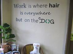 Leuke muurtekst voor in de salon