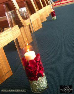Wedding, Flowers, Reception, Ceremony, Candles, Centerpieces, Stones, Flower rose