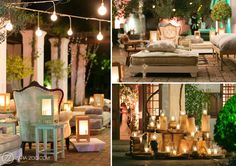 Ayah & Louay's Lavish Wedding at Nooitgedacht in Stellenbosch - This Dubai couple spared no expense! Open air Dance Floor and Earthy reception setup Pre Wedding Party, Wedding Parties, Wedding 2015, Dream Wedding, Fairy Lights, Corporate Events, String Lights, Event Design, Wedding Flowers