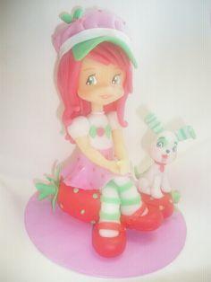 Adorno Para Torta En Porcelana Fría Frutillitas - $ 185,00 en ... Disney Characters, Fictional Characters, Disney Princess, Cold, Christmas 2016, Cold Porcelain, How To Make, Fantasy Characters, Disney Princesses